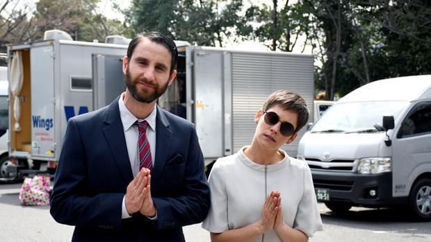 Dani Rovira y María León en el Rodaje de «Los Japón»