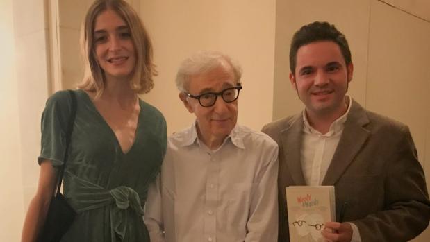 Los mallorquines Gost y Carrió en su encuentro con el cineasta Woody Allen