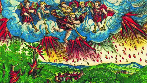 lustración del Apocalipsis que recoge el libro, hecha por el taller de Lucas Cranach para la «Biblia de Lutero»