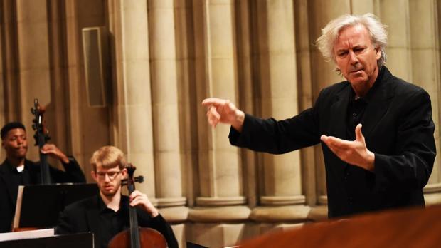 Ángel Gil-Ordóñez, en un concierto de orquesta