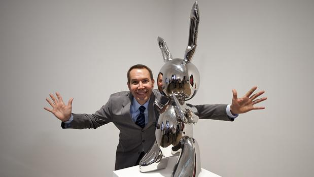 Jeff Koons, con su obra «Rabbit»