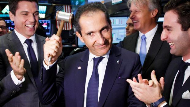 Patrick Drahi, en la Bolsa de Nueva York, en junio de 2017