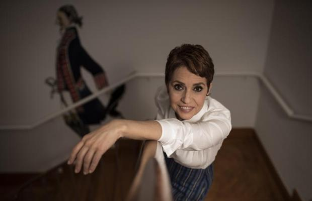 Adriana Ozores, inmortalizada durante la entrevista con ABC