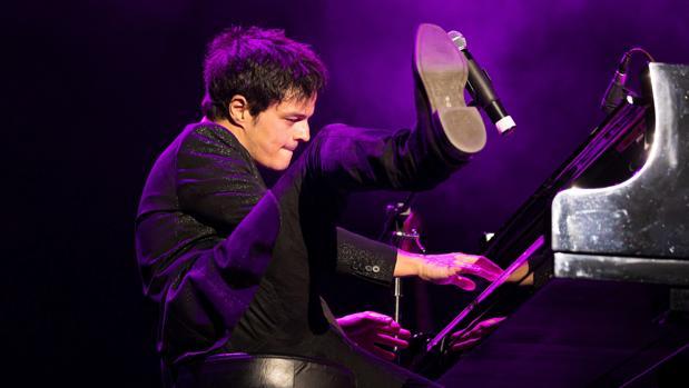 El cantante Jamie Cullum, durante su concierto