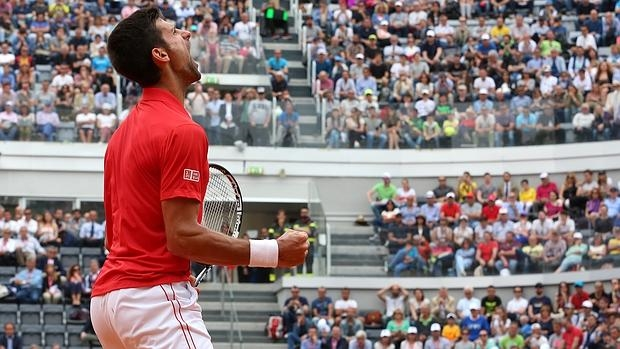 Djokovic, celebrando la victoria