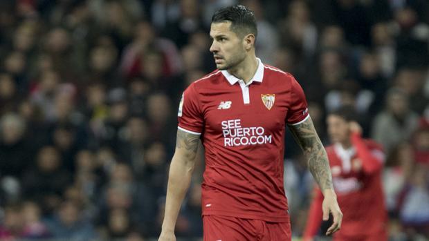 Vitolo, durante un partido con el Sevilla la pasada temporada