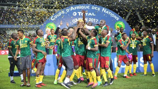 La selección camerunesa de football, campeones de la Copa de África 2017