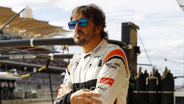 Fernando Alonso, durante el pasado GP de México