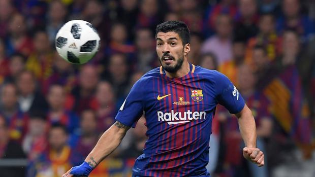 Luis Suárez en el partido contra el Sevilla