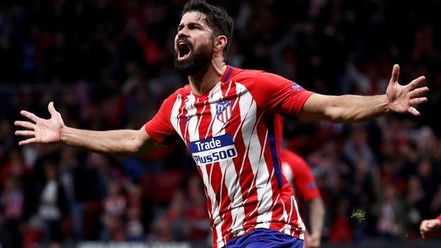 Diego Costa celebra su gol ante el Arsenal