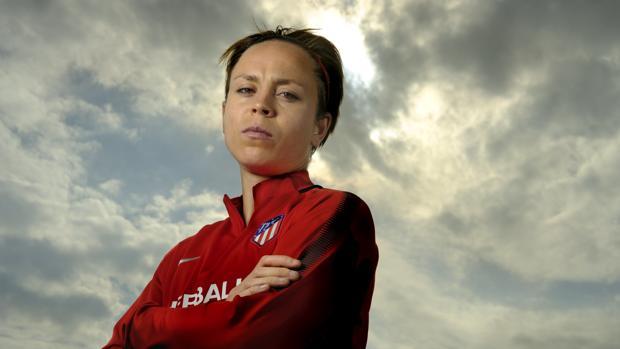 Amanda Sampedro, capitana del Atlético de Madrid Femenino