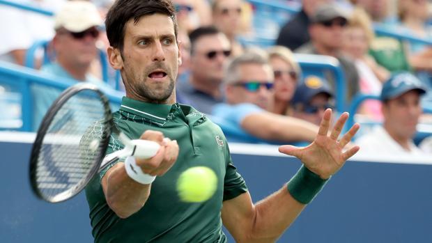 Novak Djokovic durante su último partido