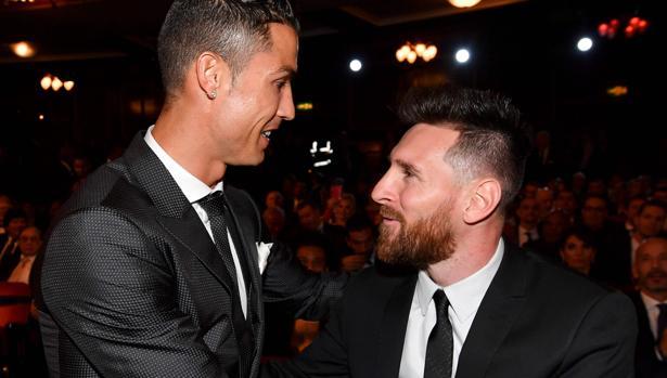 Ronaldo y Messi, en la gala The Best del pasado año