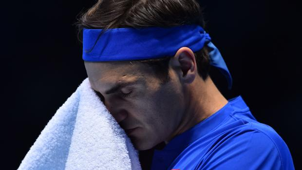 Roger Federer, durante el partido contra Kei Nishikori