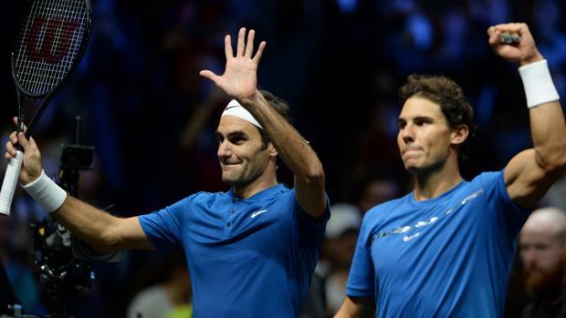 Federer y Nadal, en la Laver Cup de 2017