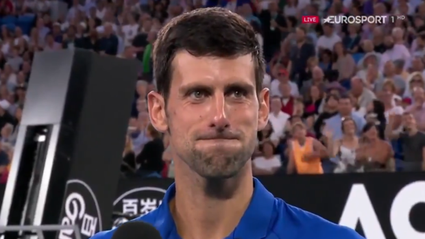 Novak Djokovic, tras vencer a Kei Nishikori