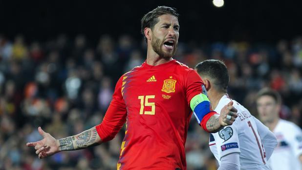 Sergio Ramos, ante Noruega