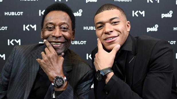 Pelé, con Mbappé