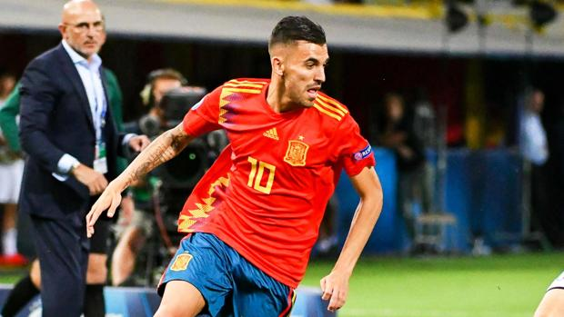 Dani Ceballos, durante el partido ante Italia