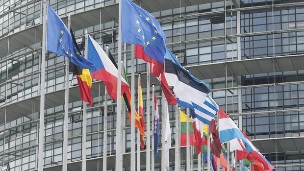 Vista exterior del Parlamento europeo
