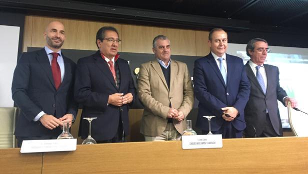 Álvaro Guillén, Antonio Pulido, Javier Carnero, Luis Osuna y Alfredo Vázquez