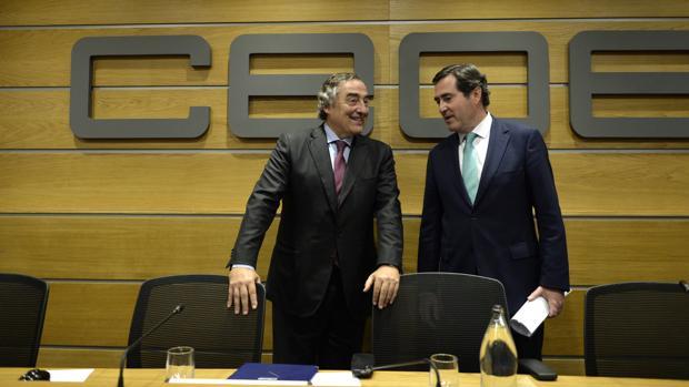 Juan Rosell y Antonio Garamendi, su posible sustituto