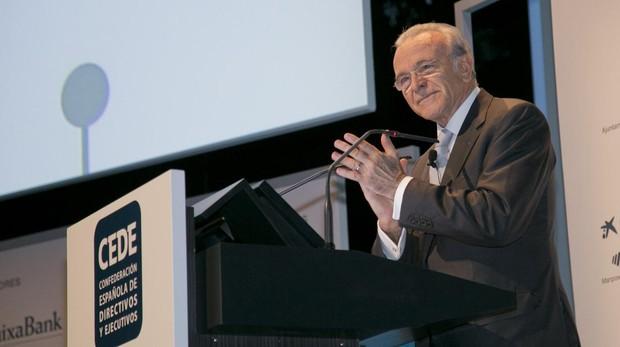 El presidente de CEDE y la Fundación Bancaria La Caixa, Isidro Fainé