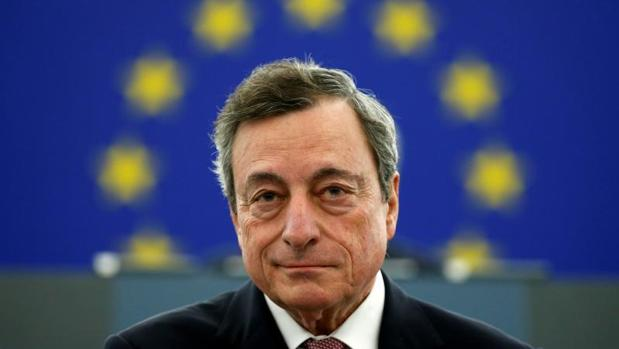 El presidente del BC, Mario Draghi