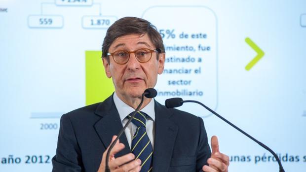 Jose Ignacio Goirigolzarri, presidente de Bankia, durante su intervención en el curso de Economía organizado por la APIE en la UIMP
