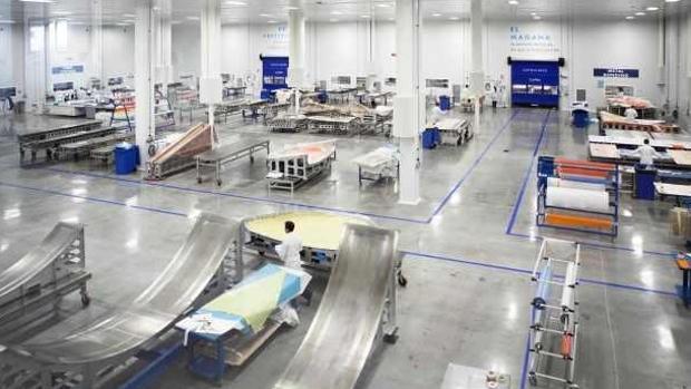 Instalaciones de la empresa aeronáutica andaluza Sofitec en Carmona