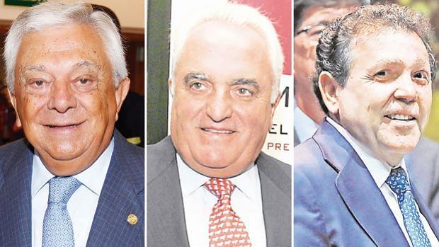 Francisco Herrero, dueño de La maignere; Manuel Contreras, presidente de Azvi, y Joaquín Caro, CEO de Antea Prevención