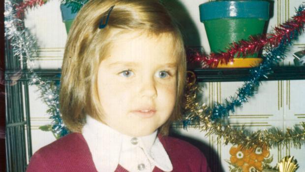 Cristina Peláez cuando contaba con cinco años