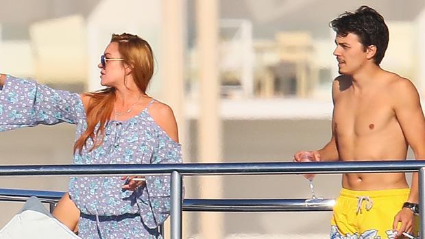Lindsay Lohan junto a Egor antes de los escándalos