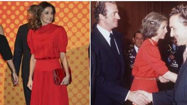 La Reina Letizia utilizó en 2018 un vestido de su suegra de 1984