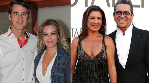 Jesulín de Ubrique, María José Campanario y Sara Baras y Pepín Serrano