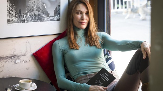 Cristina Piaget, esta semana, en la librería La Fugitiva del barrio madrileño de Lavapiés