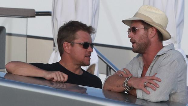 Matt Damon y Chris Hemsworth