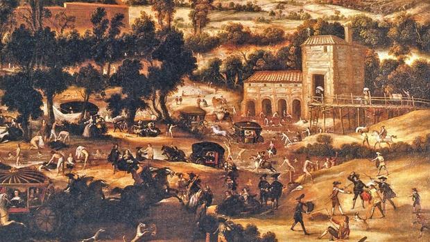 Baños en el Manzanares en el paraje del Molino Quemado (Museo de Historia de Madrid)
