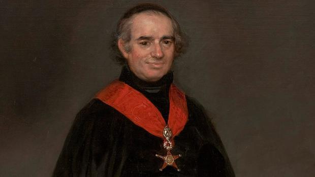 Retrato de Llorente realizado por Goya entre 1810 y 1811