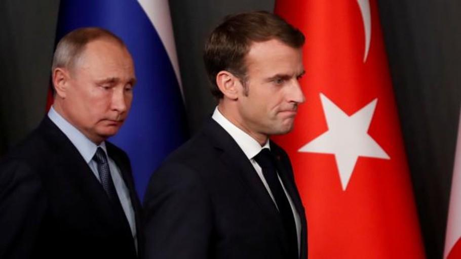 Macron con Putin, charletas y dieta mediterránea cuando los sondeos están por los suelos