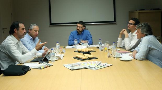 Barea, Caballero, Fernández, Velasco y Cantaert, durante el Foro