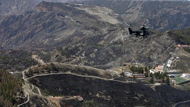 Desde el 17 de agosto, 9.000 hectáreas han ardido en Gran Canaria