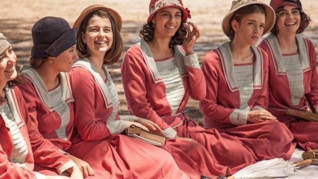Las jóvenes actrices de «La otra mirada»