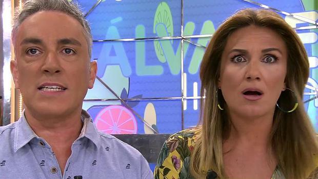 Kiko Hernández y Carlota Corredera en «Sálvame»