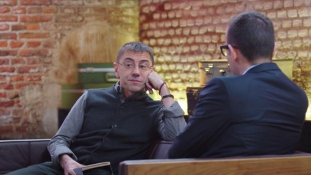 Monedero, durante una entrevista con Risto Mejide