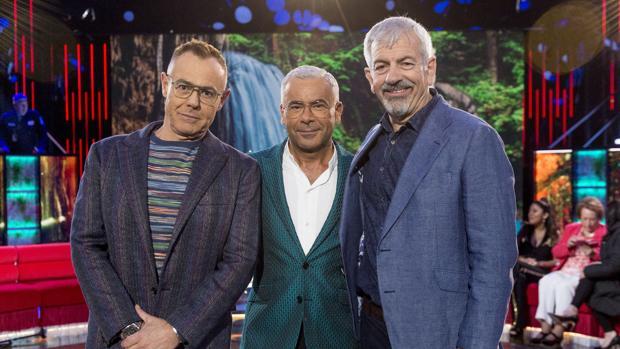 Jordi González, Jorge Javier Vázquez y Carlos Sobera, presentadores de «Supervivientes 2019»