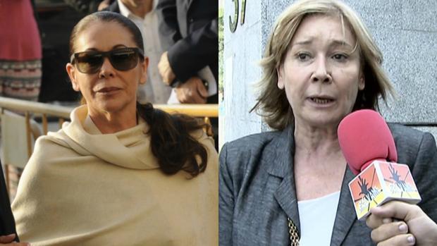 Isabel Pantoja en los Juzgados de Málaga y Mila Ximénez atendiendo a «Sálvame»