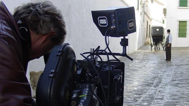 Rodaje de una escena de la película «Libertador»