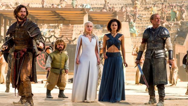 Los protagonistas de «Juego de Tronos» en la plaza de toros de Osuna