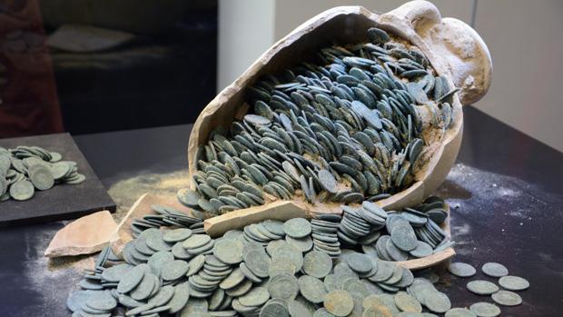 Monedas del tesoro de Tomares